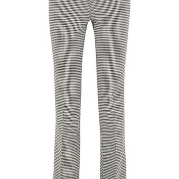 Giambattista Valli - Houndstooth wool flared pants
