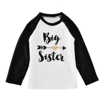 Toddler Big Sister Baseball Tee (Baby)