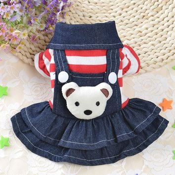 Lovely Pet Dog Clothes Puppy Hoodies Coat Jacket for Dog Small Big Bear Costume Spring Autumn Warm Pet Cat Dress Teddy Clothes40