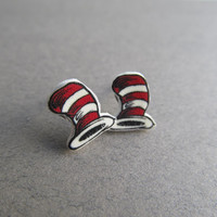 BABY Dr. Seuss Cat In The Hat Stud Earrings