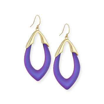 Lucite Orbit Wire Earrings, Magenta - Alexis Bittar