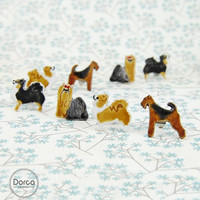 Chihuahua Yorkshire Terrier Airedale YorkieTiny Dog Ceramic Stud Earrings Pet Lovers