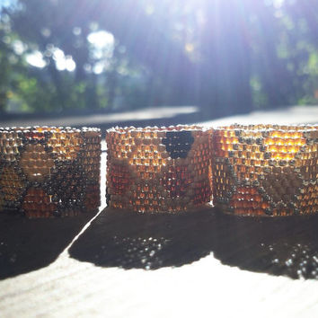 Honeycomb Glass Seed Ring Size 6