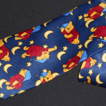 Vintage Winnie The Pooh Tie Sleepwear Men Cartoon Characters Walt Disney World Store Land Exquisite Apparel Animated Polyester Movie Novelty