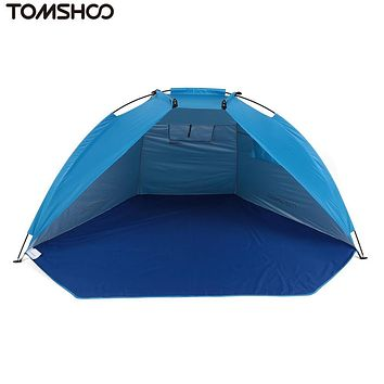 TOMSHOO Beach Tent Ultralight Folding Tent Outdoor Winter ice Fishing Camouflage Camping Tent Party Sun Shade Shelter Waterproof