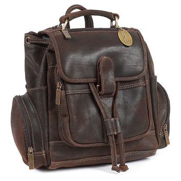 Leather Uptown Backpack, Distress Brown, Backpacks