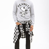 1950 Snoopy Sweatshirt Heather Grey/Black