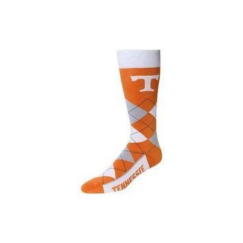 NCAA Tennessee Volunteers Vols Argyle Unisex Crew Cut Socks - One Size Fits Most