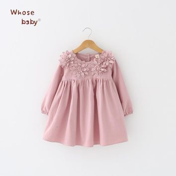 2018 Flower Girls Dress Cotton Princess Kids Dresses For Girls Casual Infant Party Wedding Costume Toddler Children Clothing