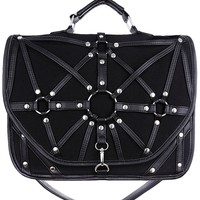 Dark Side Gothic O-rings & Black Harness Design Witchcraft Satchel Bag