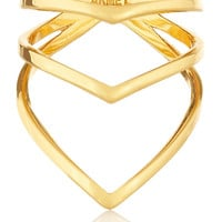 Chevron gold-plated ring   Arme De L'Amour   US   THE OUTNET