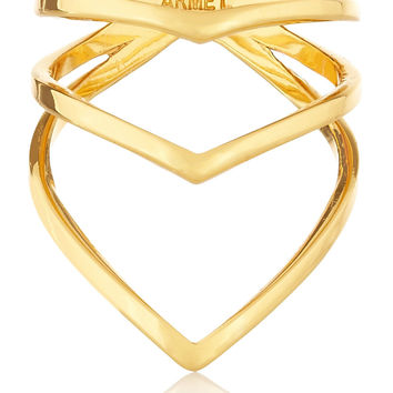 Chevron gold-plated ring | Arme De L'Amour | US | THE OUTNET