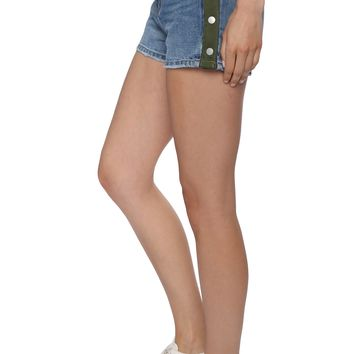 Blue Revival Paloma High Rise Shorts With Side Snaps
