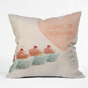Happee Monkee Love Is You Me Throw Pillow