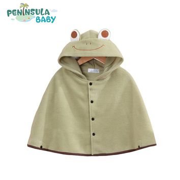 Flannel Clothing Autumn Kids Children Boys Girls Baby Clothes Spring Hoodie Cloak Baby Clothes Bebe Poncho Cape Coat Outerwear