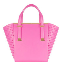 Leather studded shopper - Mid Pink | Bags | Ted Baker UK