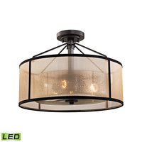 Diffusion 3 Light LED Semi Flush In Oil Rubbed Bronze