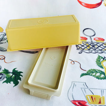 1970s Tupperware Harvest Gold Butter Dish Vintage Kitchen