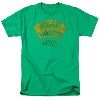 Fantastic Beasts - Muggle Worthy Short Sleeve Adult 18/1 Shirt Officially Licensed T-Shirt