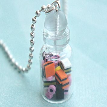 Licorice in a Jar Necklace