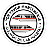 'MonorailPorFavorRed' Sticker by WDWretro