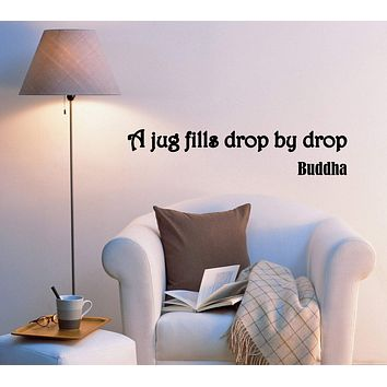Wall Decal Wise Lettering Quotes Philosophy Buddha Vinyl Sticker (ed846) (22.5 in X 5 in)