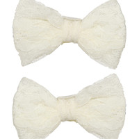 2 Crochet Flower Clips | Shop Accessories at Wet Seal