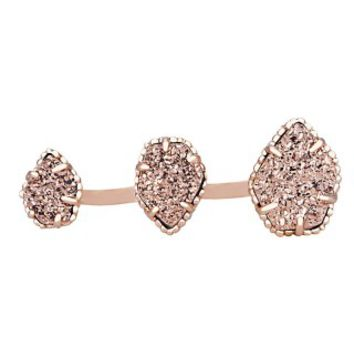 Naomi Double Ring in Rose Gold Drusy - Kendra Scott Jewelry