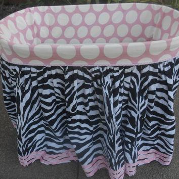 Custom made bassinet cover, Bassinet skirt