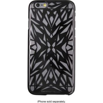 Christian Siriano - Hard Shell Case for Apple® iPhone® 6 Plus and 6s Plus - Black/Clear