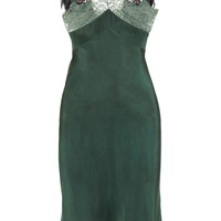 Erickson Beamon | Feather-trimmed silk dress | NET-A-PORTER.COM