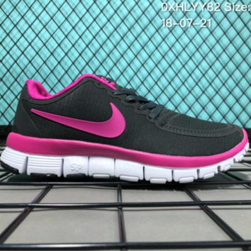 HCXX N082 Nike Air Zoom Free RN 5.0 Breathable Causal Running Shoes Black Pink 0
