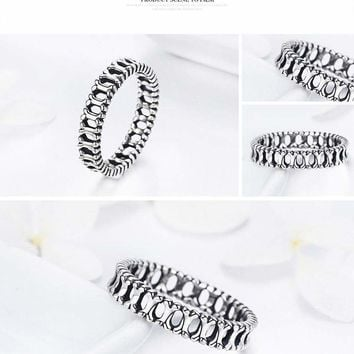 Sterling Silver Stackable Dog Bone Ring