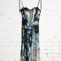 Vintage Midnight Lace-Inset Dress - Urban Outfitters