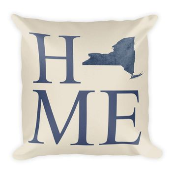 New York Map Pillow – Modern Map Art