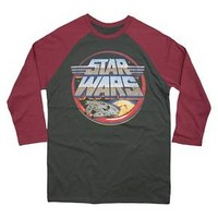 Men's Star Wars Rockin' Retro Raglan Black : Target