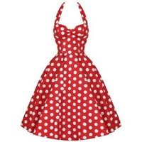 Hell Bunny 50's Mariam Polka Dot Dress Red & White