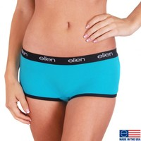 The Ellen DeGeneres Show Shop - BOYSHORTS UNDERWEAR, TEAL/BLACK
