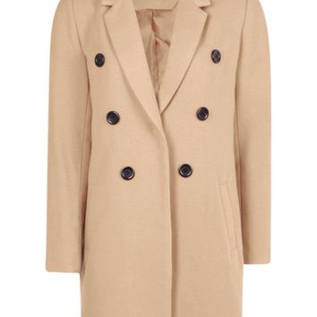 Natalie Double Breasted Coat | Boohoo