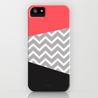 Infrared Grey Chevron Black iPhone Case iPhone & iPod Case by RexLambo