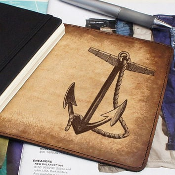 Leather Moleskine Cover – Anchor
