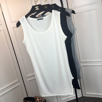 Sleeveless Split Sides Loose Long Tank Top
