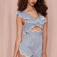 Alice McCall Creatures of the Moon Striped Romper