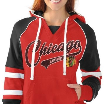 Chicago Blackhawks Womens Laced Script Hoody