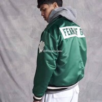 Fog Fear Of God Celtics Limited Silk Green Coach Jacket Casual Loose Coat S Xl | Best Deal Online