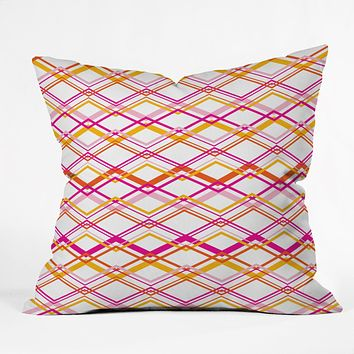 Heather Dutton Intersection Bright Throw Pillow
