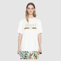 Gucci - Gucci logo cotton T-shirt