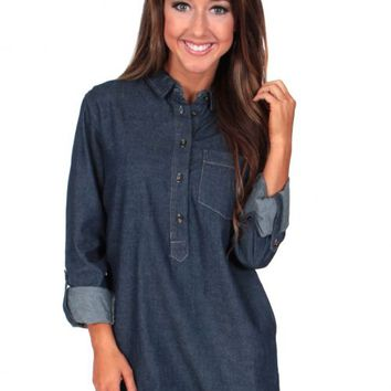 Love Myself Chambray Tunic | Monday Dress Boutique