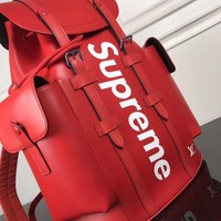 cc hcxx LV x Supreme Backpack red