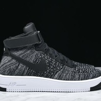 Best Sale AIR FORCE 1 ULTRA FLYKNIT MID - BLACK / WHITE AF1